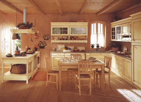 cocina clsica moderna - Cocinas Rusticas Baratas